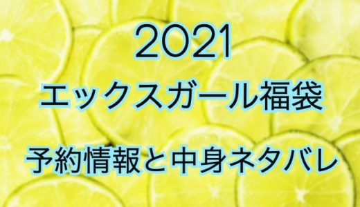エックスガール福袋2021年の予約情報や過去中身ネタバレ
